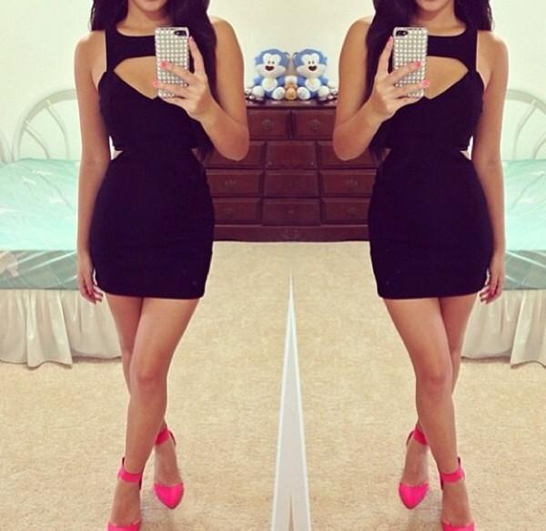 dress cut-out black dress