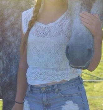 top cropped short sleeved girl