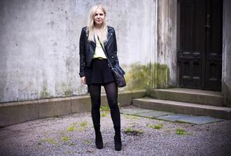elenita jacket t-shirt pants belt shoes bag