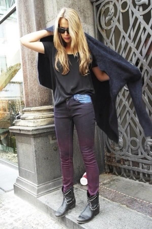 jeans ombre rock