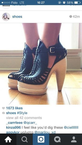 shoes black heels heels leather