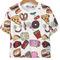T-shirt motif fast food -blanc