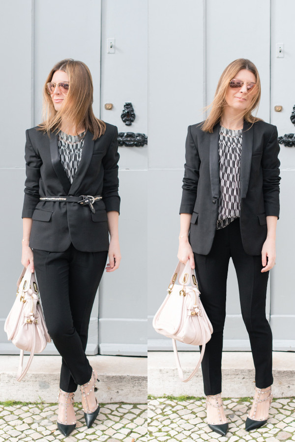 the working girl blouse t-shirt jacket pants bag shoes jewels belt sunglasses