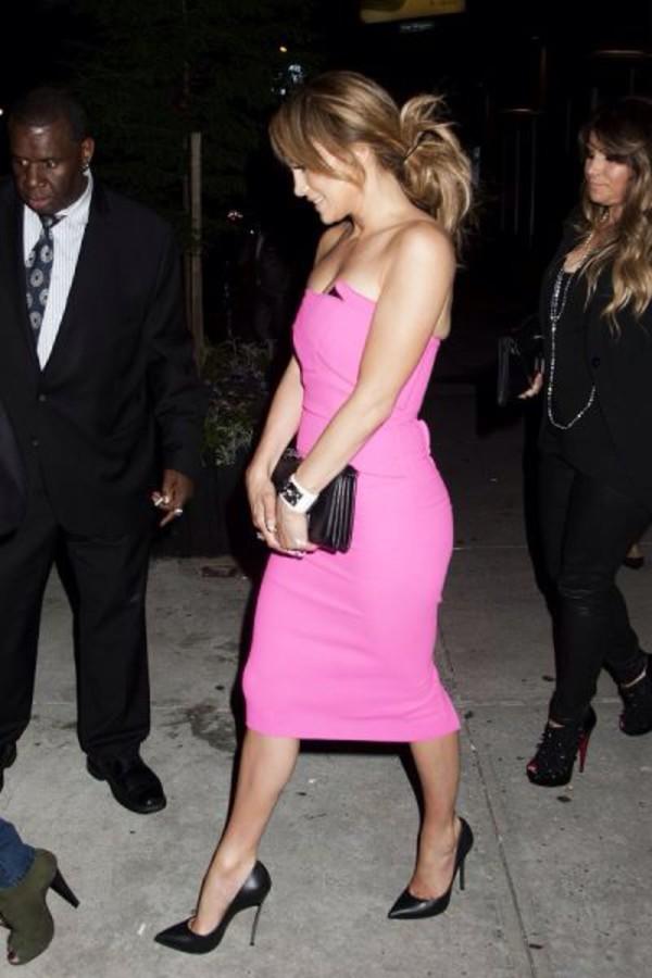 dress jennifer lopez pink