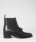Womens Kiss Tassel Boot (Black)   ALLSAINTS.com