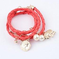 Wholesale Fashion Beaded Knitting Design Wrap Bracelet For Women (COLOR ASSORTED), Bracelets - Rosewholesale.com