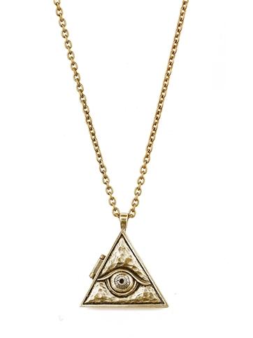 Evil Eye Locket Necklace                       — GLAMboutique