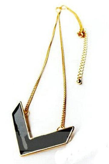 Black V Chain Necklace [FTBJ00141]- US$10.99 - PersunMall.com