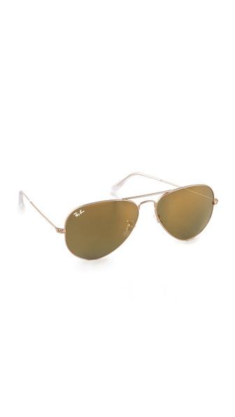 Ray-Ban Mirrored Original Aviator Sunglasses | SHOPBOP