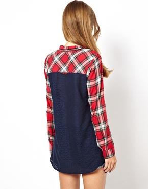 Hilfiger Denim | Hilfiger Denim Check Shirt With Contrast Back at ASOS