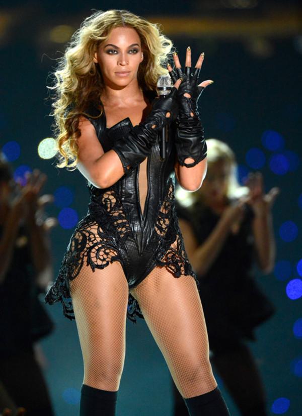 dress black leather beyonce bodysuit fierce