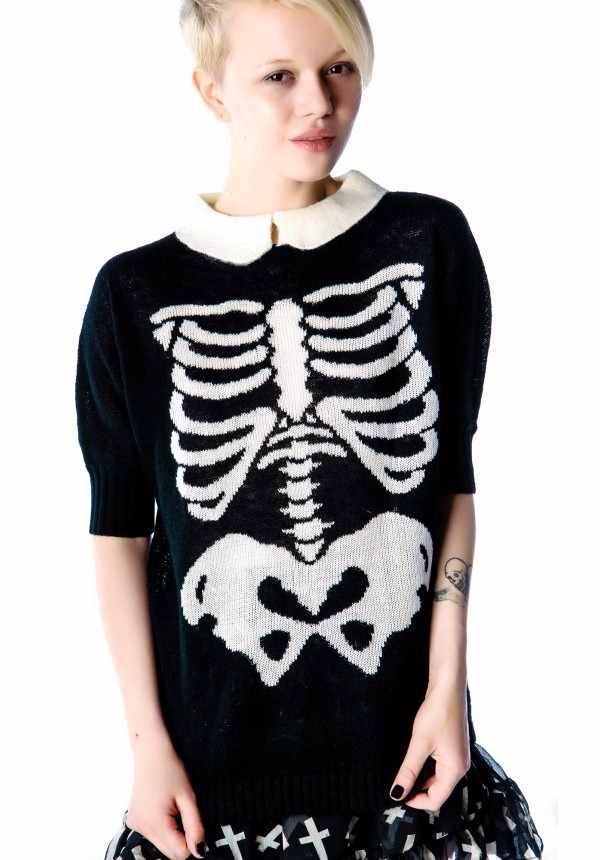 sweater skeleton dollskill