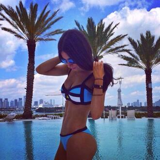 swimwear jen selter bikini bikini top swimwear printed girly patterned bikini bottoms bikini bottoms