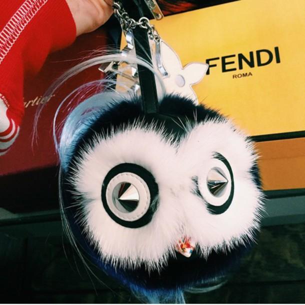 keychain fendi fur fur keychain accessories Accessory trendy