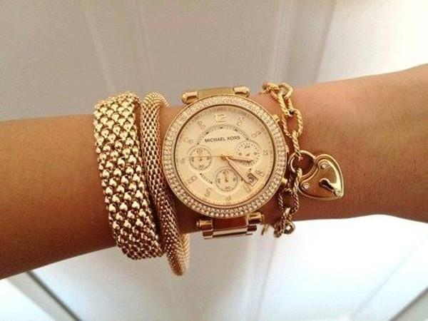jewels clock michael kors