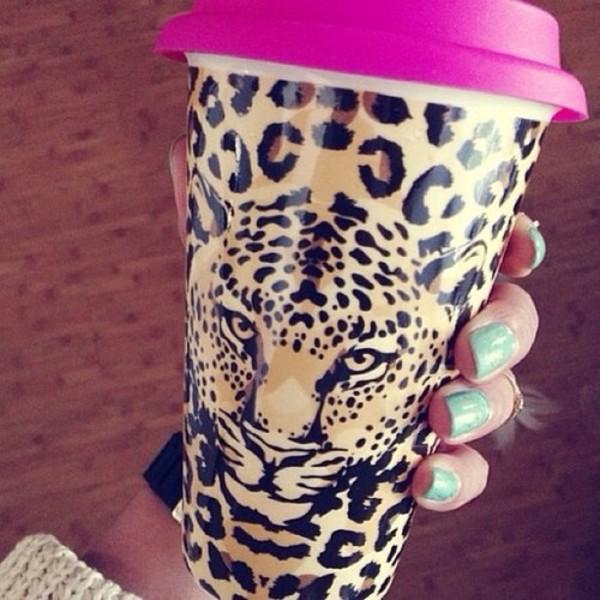 jewels coffee mug pink leopard print pretty cup thermo nail polish leopard print leopard #cup