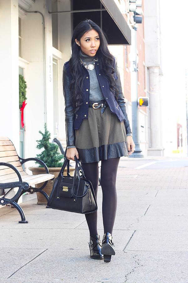fashion of a novice skirt bag jacket shoes jewels