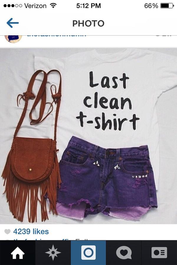 t-shirt bag shorts