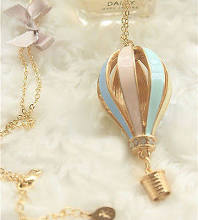 N144 Colorful Hot Air Balloon Necklace