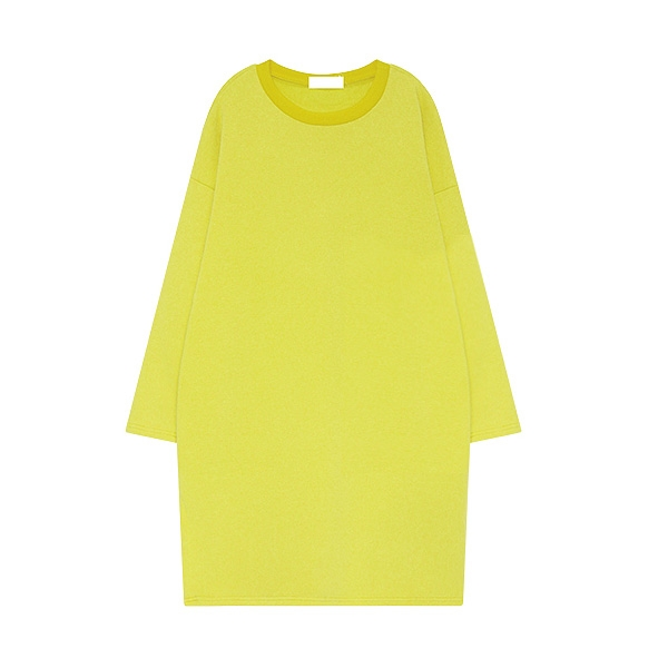 Bright Color Round Collar Vented Long Hoodies