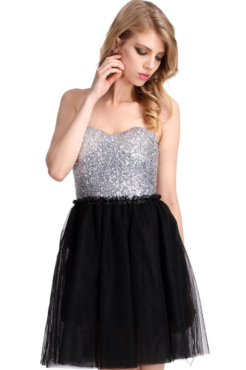 ROMWE | Bandeau Black Shift Dress, The Latest Street Fashion