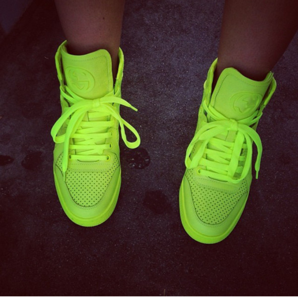 shoes gucci highlighter high top sneakers