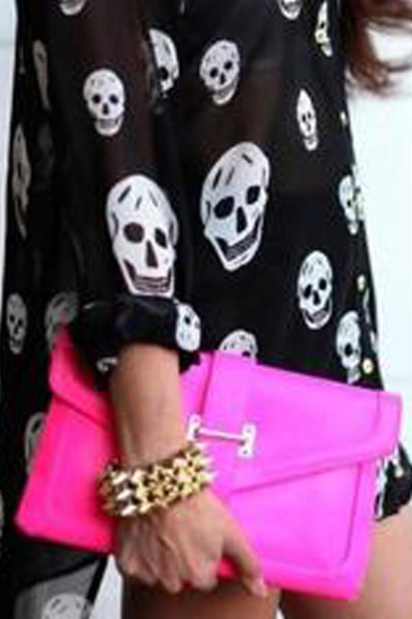 blouse skull black blouse skull top