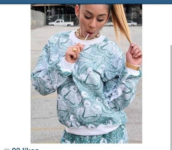 sweater money sweatshirt sweatpants crop tops tracksuit high heels long sleeve crop top bodycon dress shirt