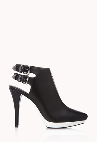Modernist Cutout Booties | FOREVER21 - 2000111253