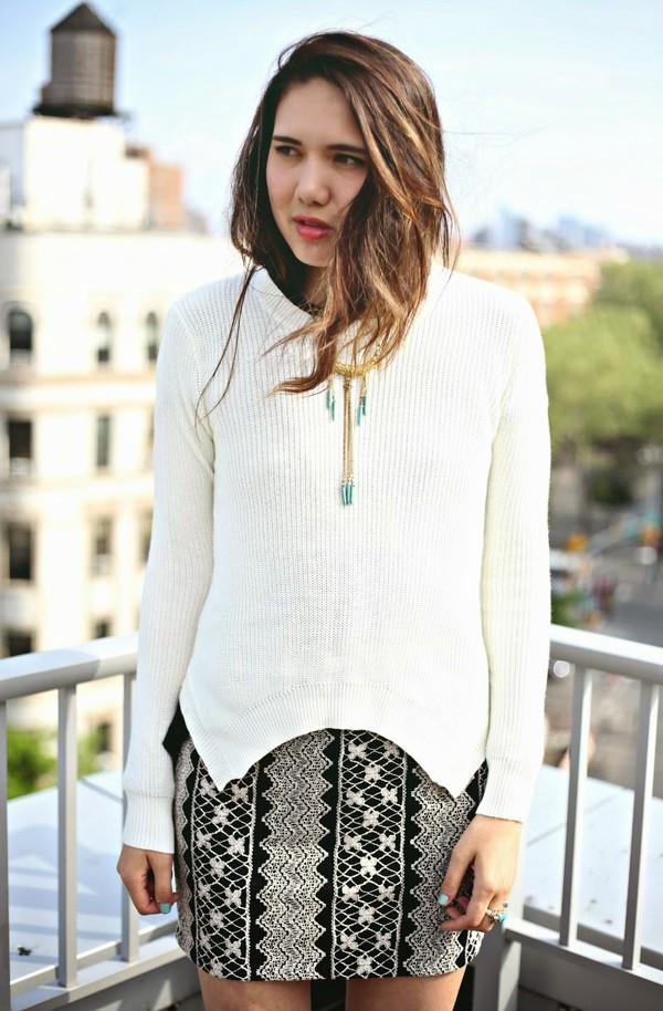 color me nana sweater skirt jewels