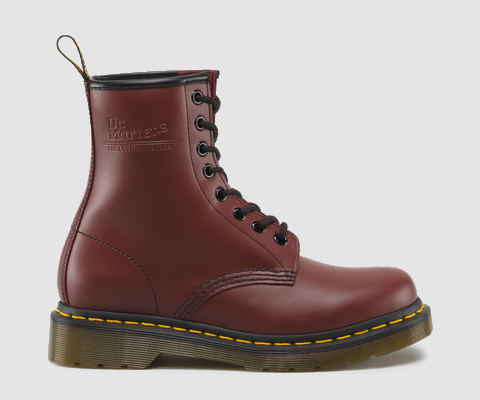 Dr Martens 1460 WOMENS CHERRY RED SMOOTH - Doc Martens Boots and Shoes
