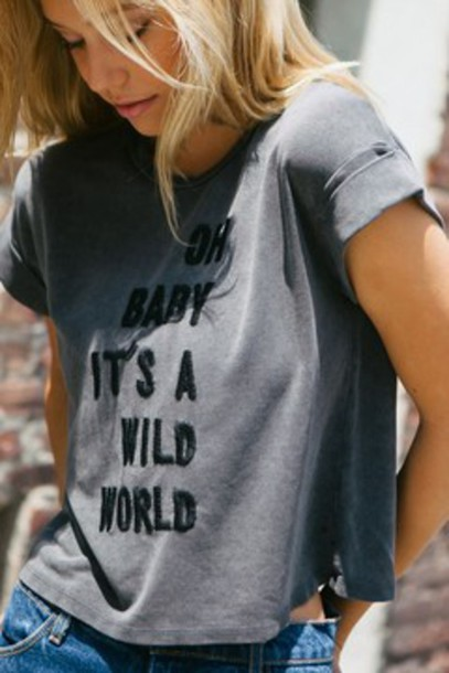 t-shirt blonde hair grey t-shirt tumblt t-shirt quote on it casual girl shirts shirt graphic tee embroidered t shirt embroidered t-shirt