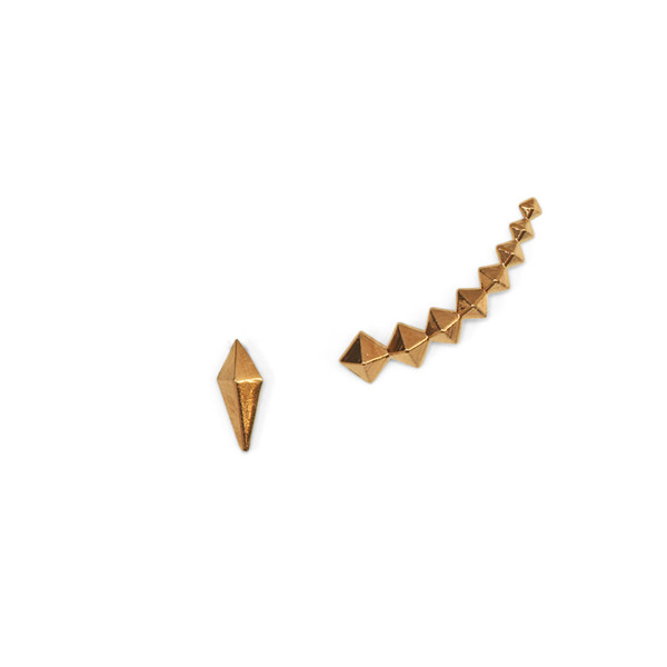 The Petite Punk Curved Earring- Rose Gold   Luv Aj