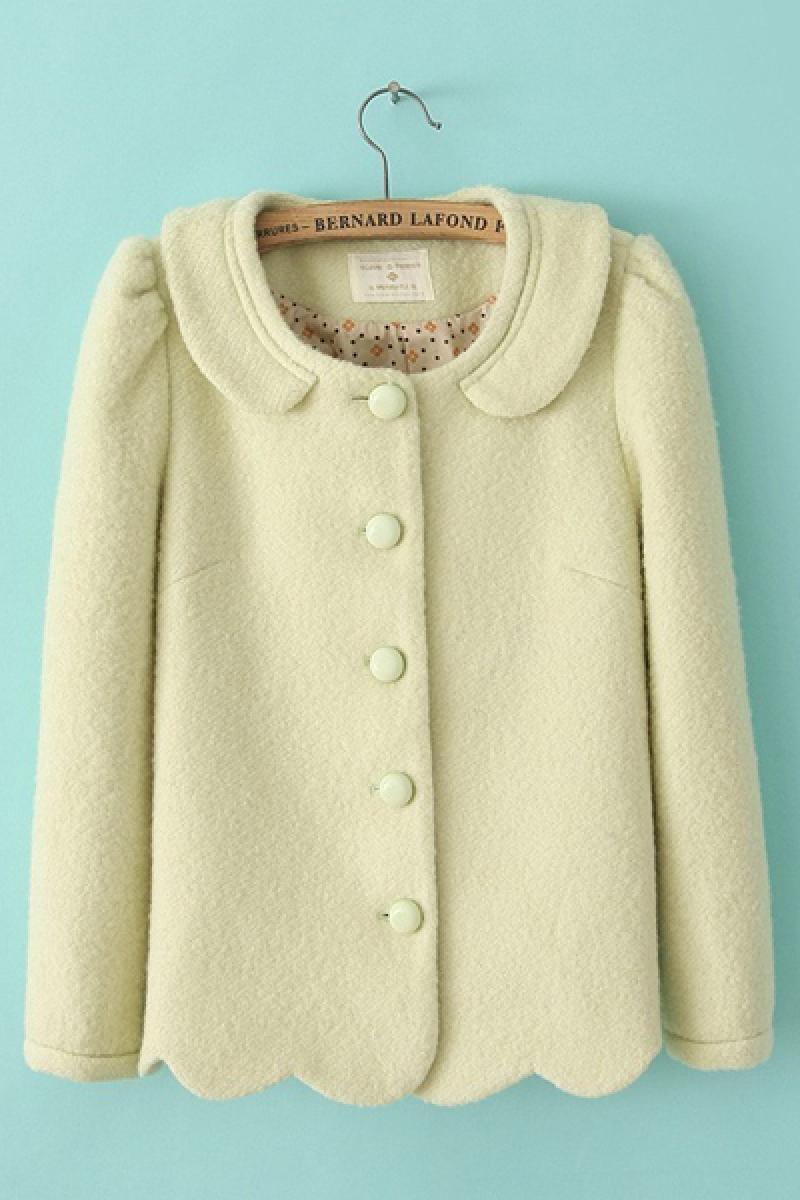 New Euroamerican Woolen Slim Short Section Overcoat,Cheap in Wendybox.com