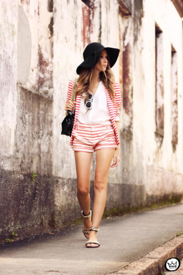 fashion coolture shorts jacket bag sunglasses shoes