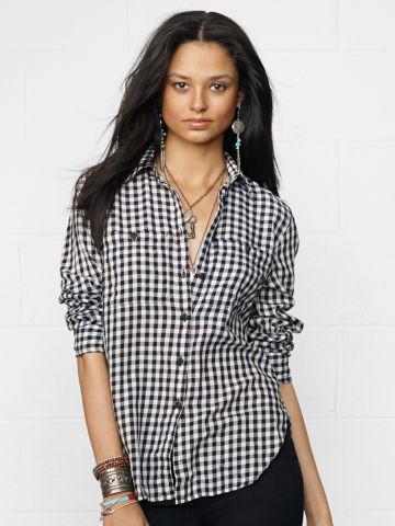 Kingsley Check Utility Shirt - Long-Sleeve  Shirts - RalphLauren.com