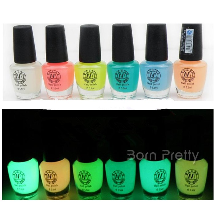 $4.99 15ml Fluorescent Neon Luminous Nail Art Polish varnish Glow in Dark #02 - BornPrettyStore.com