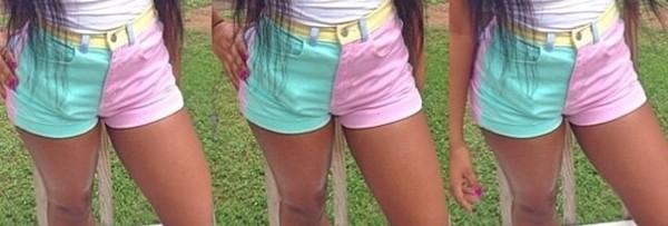 shorts pastel