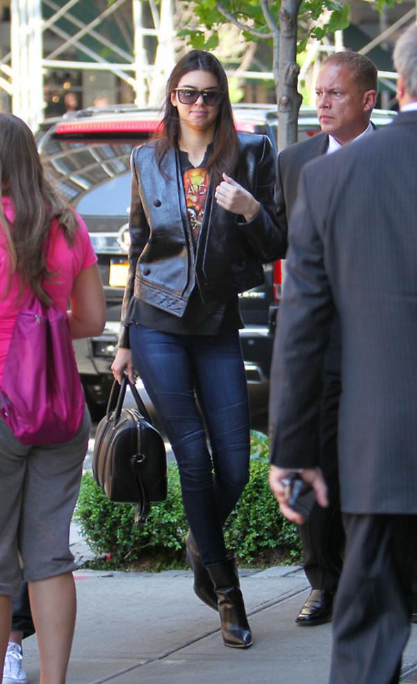 jacket kendall jenner jeans bag shoes