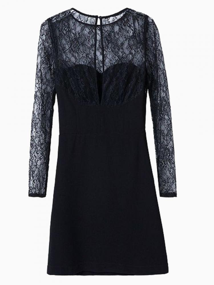 Black Party Dress On Lace | Choies