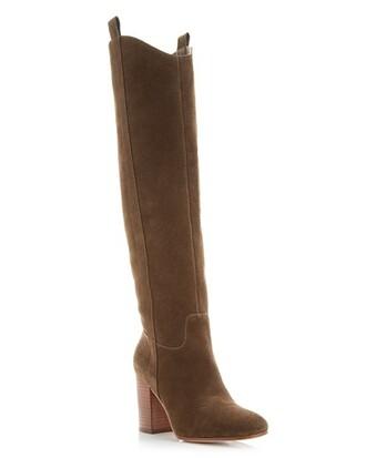 shoes boots heels via spiga stacked wood heel knee high boots