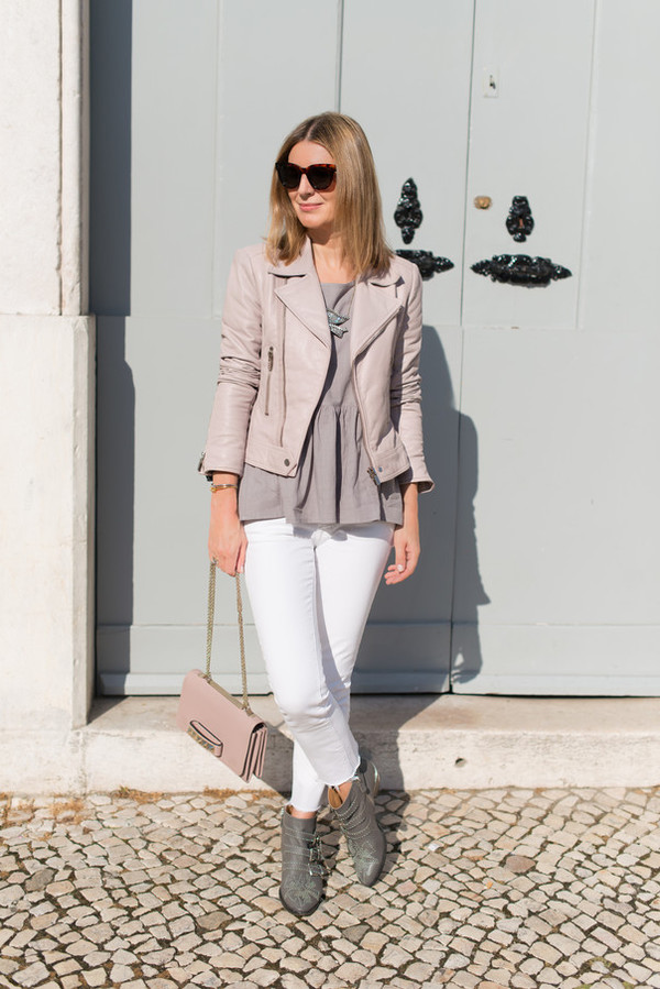 the working girl top jacket jewels jeans shoes bag sunglasses