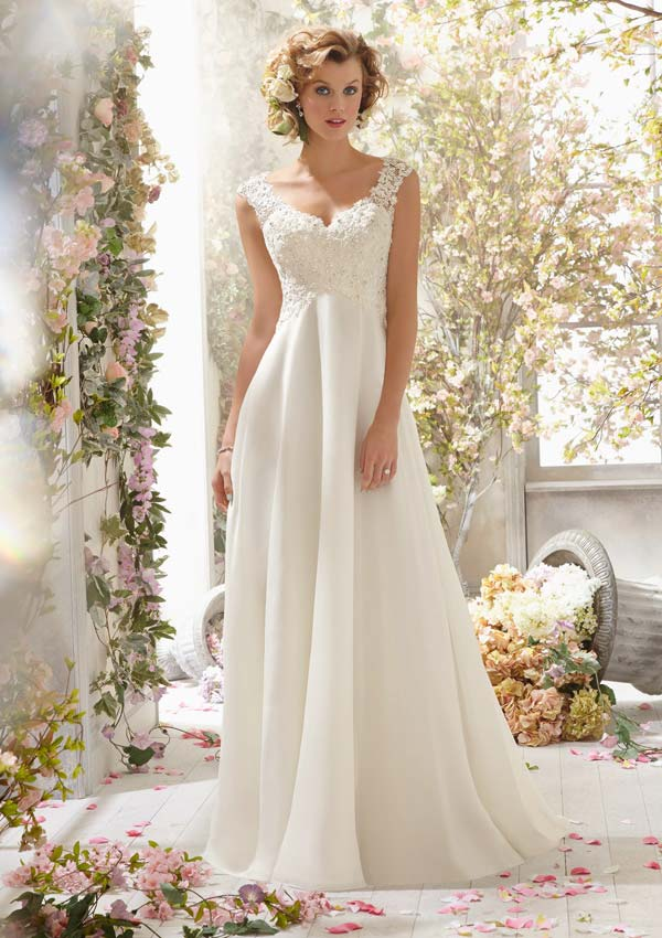 Mori Lee wedding dress 6778 at Glamourous Gowns.
