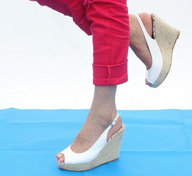 Comfortable Women S Wedge Shoes Sandals Wedges Peep Toe Wedge Heel Graduation Casual Round Toe On Line Women's Shoes
