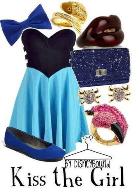 dress blue dress the little mermaid