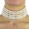 Bella pearl choker necklace