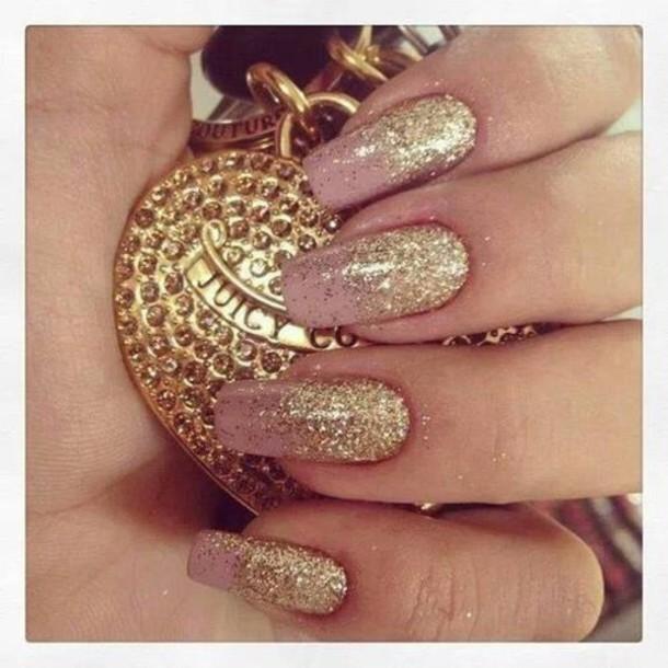 nail polish gorgeous glitter nails metallic nails