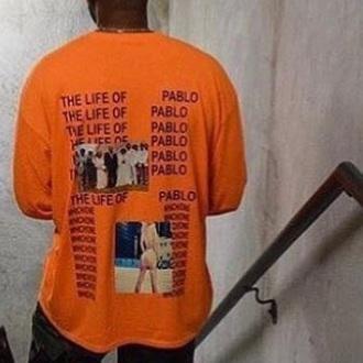 shirt orange kanye west the life of pablo i feel like pablo pablo