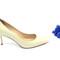 Light lime low heels
