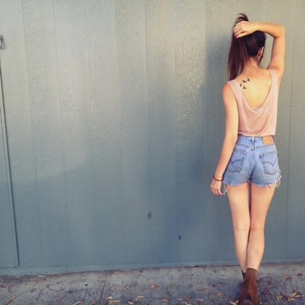 shorts hipster blouse tank top